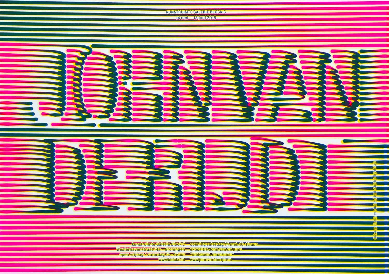 John van der Rijdt Galerie Block C poster
