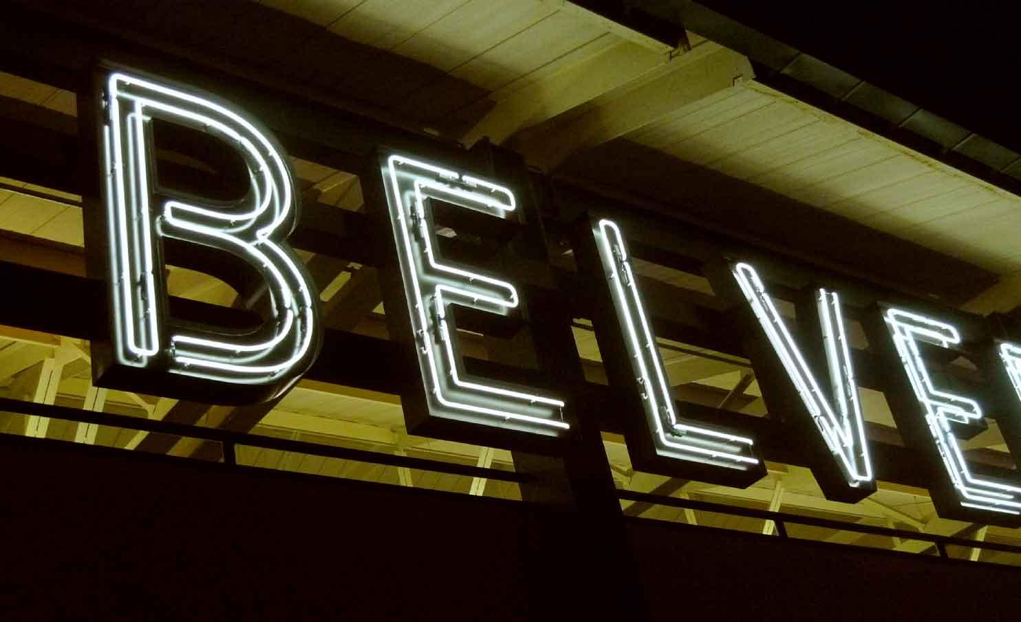 Ohm neon sign