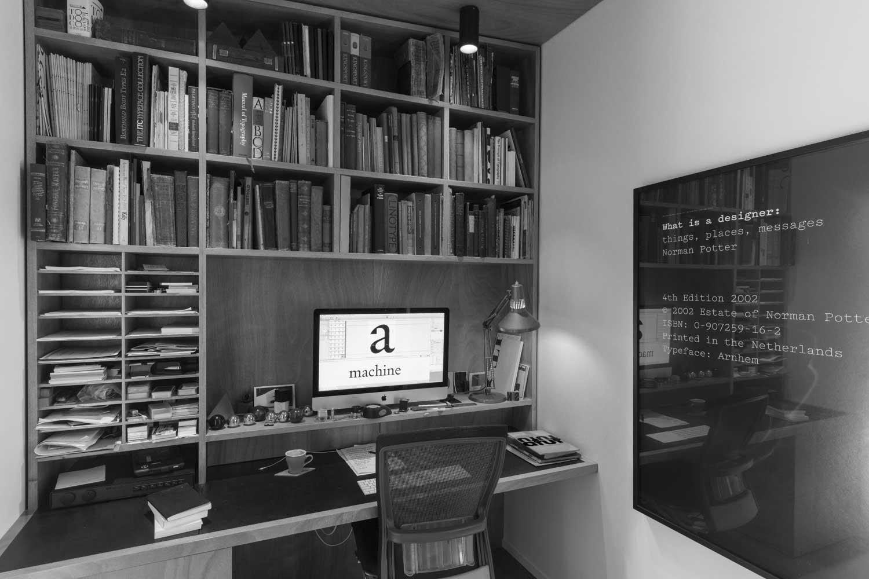 Kris Sowersby's office in Wellington, New Zealand