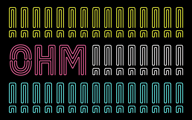 Ohm typeface
